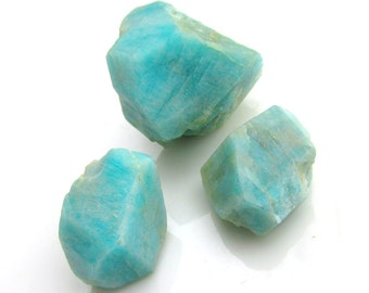 Colorado AMAZONITE Crystals - Lot of 3 Natural Crystals 35 grams total weight Microcline Feldspar