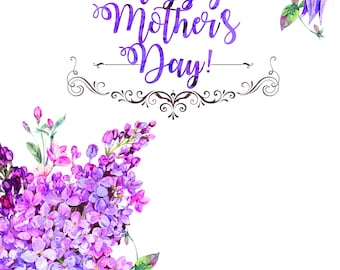 Mother's Day Instant Download Card Supporting the Chelsea Hutchinson Foundation!