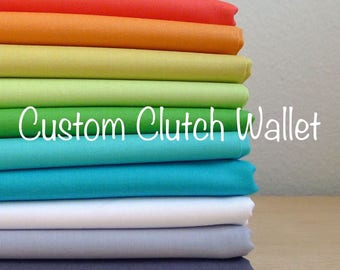 Custom Clutch Wallet - Your Choice of Fabric