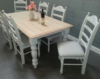 Stunning 6ft Dinning Table and Chair Set
