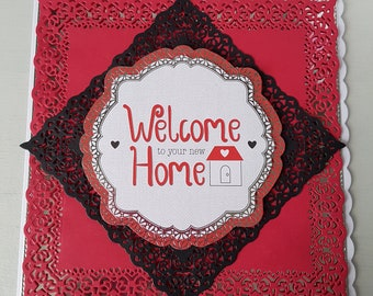 Home sweet home 8x8 inch greeting card