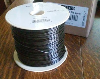 Spool of Artist's Wire - 18 gauge, 5 pounds, Black Annealed Wire