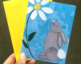 Bunny Daisy Card