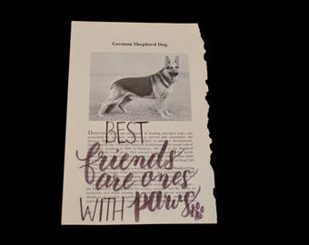 Book Art German Shepherd