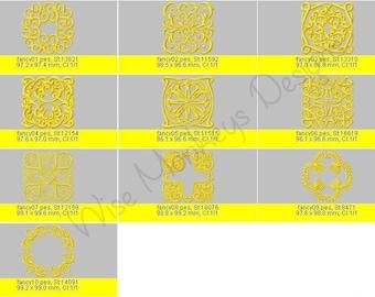Decorative Quilting Blocks machine embroidery designs set of 20