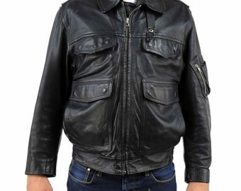 German Police Retro Motorcycle Leather Jacket