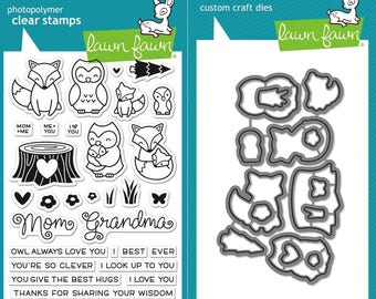 Lawn Fawn Mom and Me Photopolymer Clear Stamps