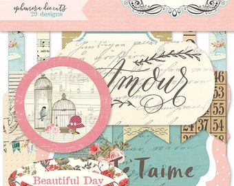 Photo Play French Flea Market Cardstock Die Cuts