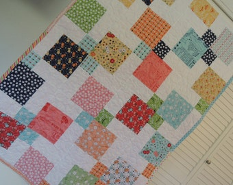Vintage Happy Quilt, Personalized, Fast Shipping
