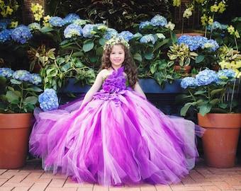 Red carpet tutus by redcarpettutus on etsy orchid purple flower girl dress mightylinksfo