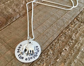 Save the elephants necklace-jewelry-gift