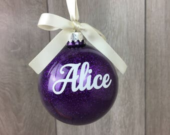 Personalised Christmas Bauble, Christmas Ornament, Personalised Bauble, Bauble, Personalised Name Bauble