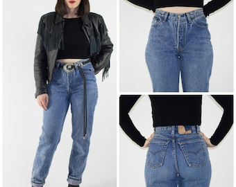 Vintage High Waisted Levi's 501 Jeans | Perfect 90s Denim Pants | Retro Mom Jeans | Grunge Rocker Fashion