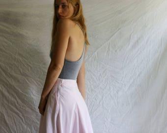 Ralph Lauren picnic skirt / size 10 / 2000s / full skirt / cotton /pink/ calvin klein / abercrombie / polo / hilfiger / calvin klein / large