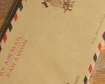Brown Kraft Envelopes - Praha, Set of 10