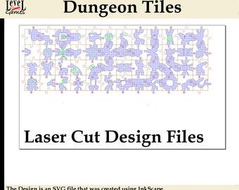 Dungeon Tiles Set 1 & 2 - Laser-Cut Design Files