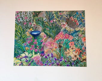 Giclee Print From Original Pastel-Fantasy Garden 3-Neo Impressionism-Abstract Landscape
