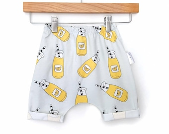 Harem shorts, boys harem shorts, boys shorts, baby boy shorts, toddler harem shorts, boys summer shorts, boys stretchy shorts, casual shorts
