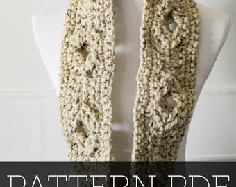 PATTERN for the Asher Scarf | Crochet Scarf | Cable Scarf | Crochet Pattern | Scarf Pattern | Crochet | Simple Pattern | Scarf |