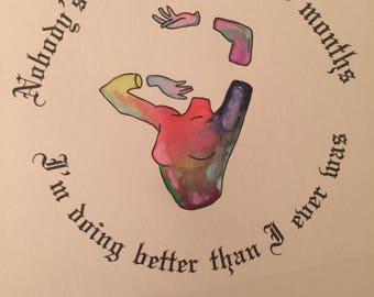 Taylor Swift Watercolour Print