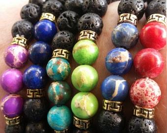 Lava bead oil diffuser bracelets