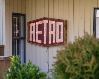 Retro Sign handcrafted