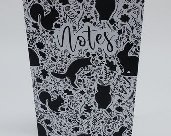 Woodland Animal Silhoutte Notebook A6
