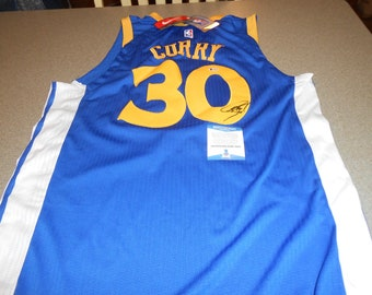 STEPHEN CURRY SIGNED golden state warriors nike jersey/with tags/beckett