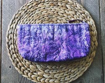Purple Ombre Makeup Bag