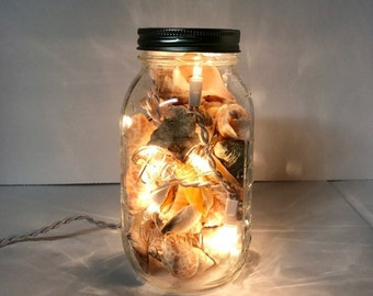 Mason Jar Accent Light - Lights & Shells