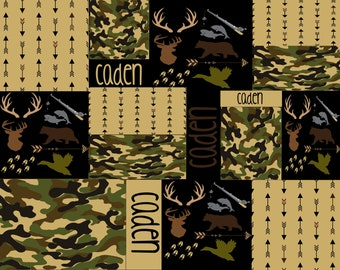 Personalized Camo Blanket, Personalized Camouflage Blanket, Camo Name Blanket, Camouflage Name Blanket, Personalized Hunting Blanket