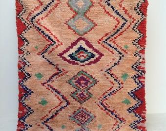 Beautiful Vintage Moroccan Boucherouite Rug