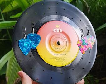 Jewellery Record Stand 50's 60's 70's 80's Decoration Retro Disco Vintage Rock Vinyl Bowl Retro Jewellery Earring Studs Necklace Display
