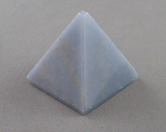 Angelite Stone Pyramid - Healing Crystals and Stones, Angelite Crystal, Charkra Energy, Angelic Charm, Raw Crystals, Blue Anhydrite (K110-5)