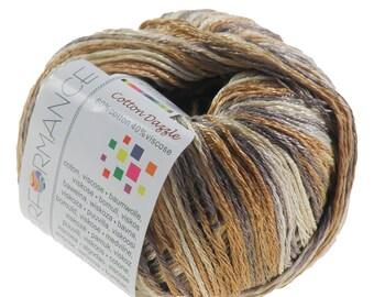 10 x 50g knitted yarn cotton dazzle #9109 Beige-Brown