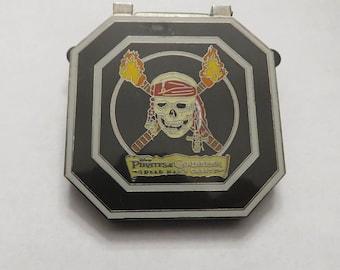 Disney WDW POTC Dead Mans Chest Box Set Skull Compass Pin