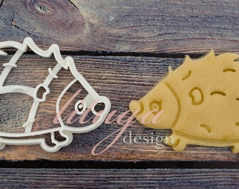 Hedgehog cookie cutter - Animal shaped cookie cutter - hedgehod, porcupine