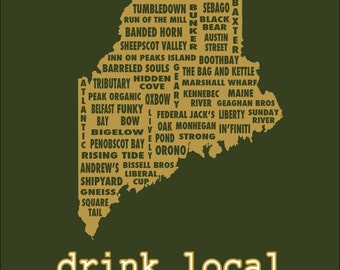 Drink Local- Maine Beer T-shirt