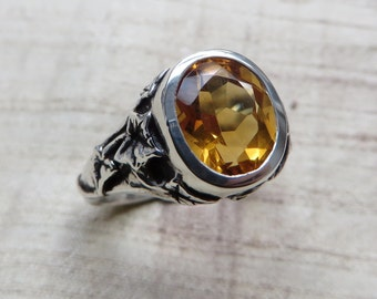 Citrine and Sterling- The Ivy Ring