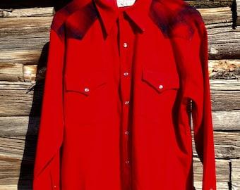 RARE Pendleton Rockabilly High Grade Western Wear Wool Shirt Men's Large