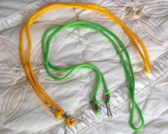 Cord handle, with carabiners for shoulder bag, 2u lot., in colors to choose