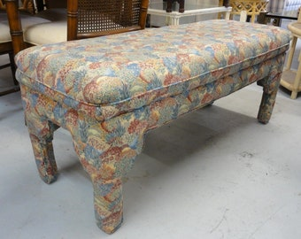 Vintage Moroccan Style Upholstered Bench