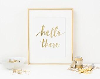 Hello There Print, Printable Wall Art, Art Print, Printable