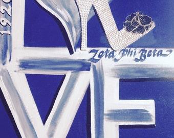 Zeta Phi Beta 'LOVE' art two