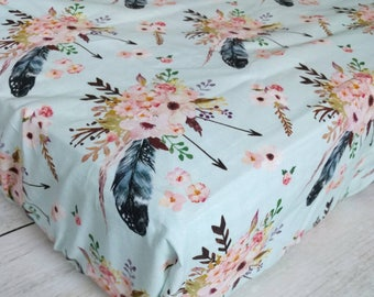 Boho Floral Fitted Crib Sheet