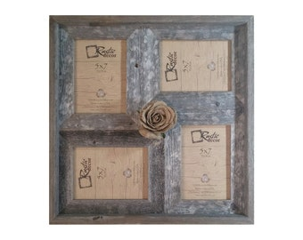 """5x7 -2"""" wide Multi-Direction Rustic Barn Wood Collage Frame(Holds 5x7 Pictures)"""