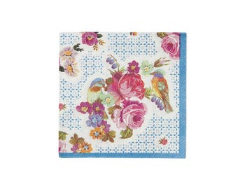 Truly Amuse Bouche Paper Napkin, Small, Talking Tables, Floral, Party Decor, Party Supplies, Tableware, Pirate, Party Theme