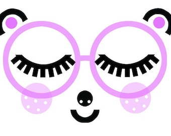 Cute kids' animal in glasses art print