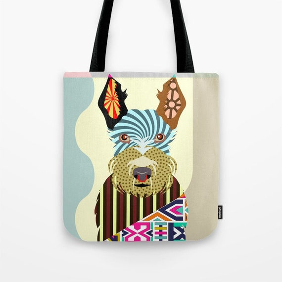 Scottish Terrier Bag, Scottish Terrier Gifts, Scottish Terrier Print, Scottie Gift, Scottie Print, Dog Tote Bag, Dog Lover's Gift
