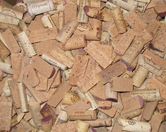 SALE 100 Pre-Cut Wine Cork Halves--Natural, No Synthetics, No Champagne Corks